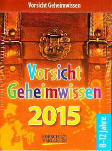 Vorsicht-Geheimwissen-2015-Abreisskalender-ovp-rar-Kalender-Schatzkiste-Ideen