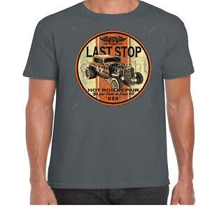 Mens-Hotrod-58-T-Shirt-Rat-Rod-Custom-V8-Garage-American-Classic-Vintage-Car-32