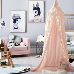 Girls Bed Canopy Reading Nook Tent Dome Mosquito Net Decor Pink ...