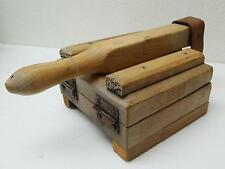 Antique Mexican Wood & Leather TORTILLA PRESS - Still WORKS! - Free Shipping!