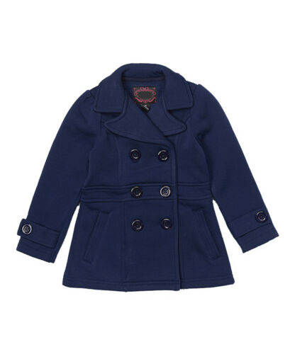 NEW Girls Double Breasted Pea Coat  Holiday Winter  Kids Sz 6 8 10 11