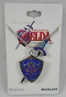 Nintendo The Legend Of Zelda Ocarina Time 3d Sword And Shield Pendant Necklace
