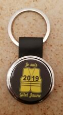 PORTE CLEFS METAL CHROME GILETS JAUNES GILET JAUNE SOUTIEN 2019 PORTES CLES CLEF
