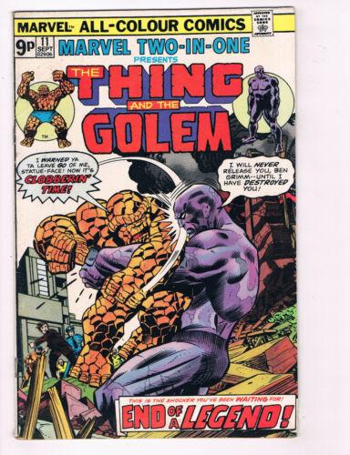 The Thing & The Golem #11 FN Marvel Comics Comic Book 1975 DE29 Marvel 2 In 1 Comics Superhero