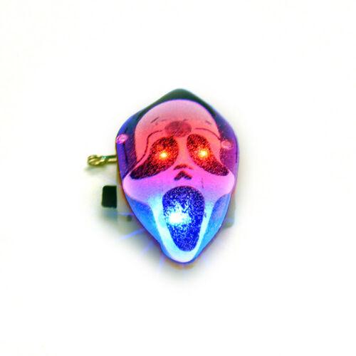 Halloween Pumpkin Ghost Pirate Skull LED Flashing Light Badge Brooch Decor Gift*
