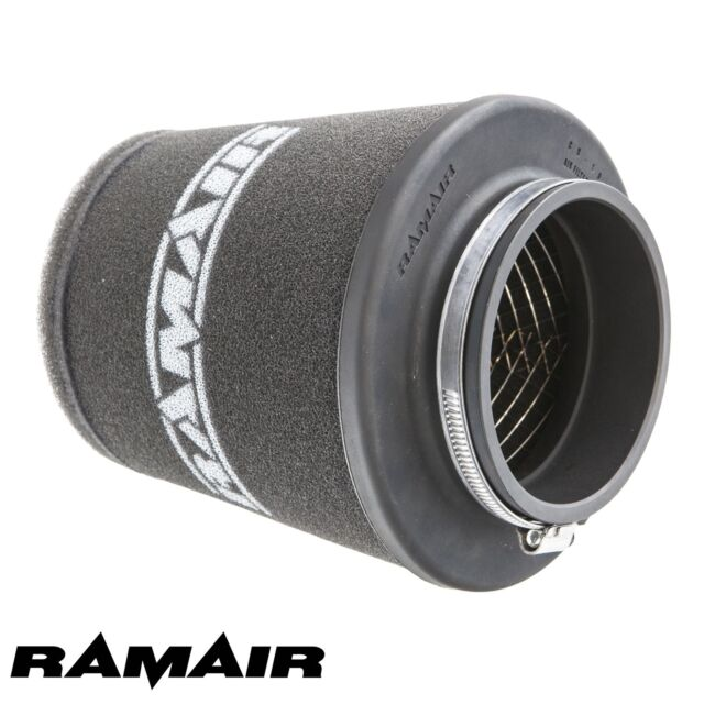RAMAIR INDUCTION FOAM CONE AIR FILTER UNIVERSAL WIDE 90mm MADE IN THE UK