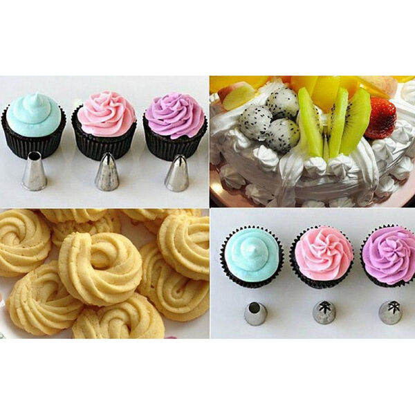 6PCS Cake Icing Piping Nozzles Tips Fondant Cupcake Sugarcraft Decorating
