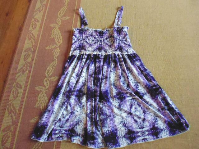 LADIES PURPLE SLEEVELESS ELASTICATED SMOCKED DRESS BY CROSSROADS - SIZE S  8/10