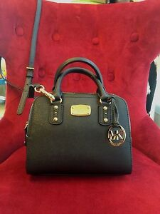 NWT MICHAEL MICHAEL KORS SAFFIANO LEATHER MINI SATCHEL BAG IN ...