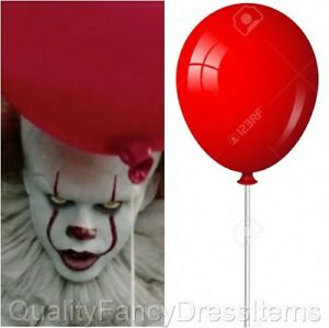 0d4e59910 Halloween IT Evil Clown Large 2 RED BALLOON HOLDER Fancy Dress ...