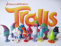 Dreamworks Trolls Movie Deluxe Figure Play Set 12 Pc Cooper Poppy Branch Dj Suki