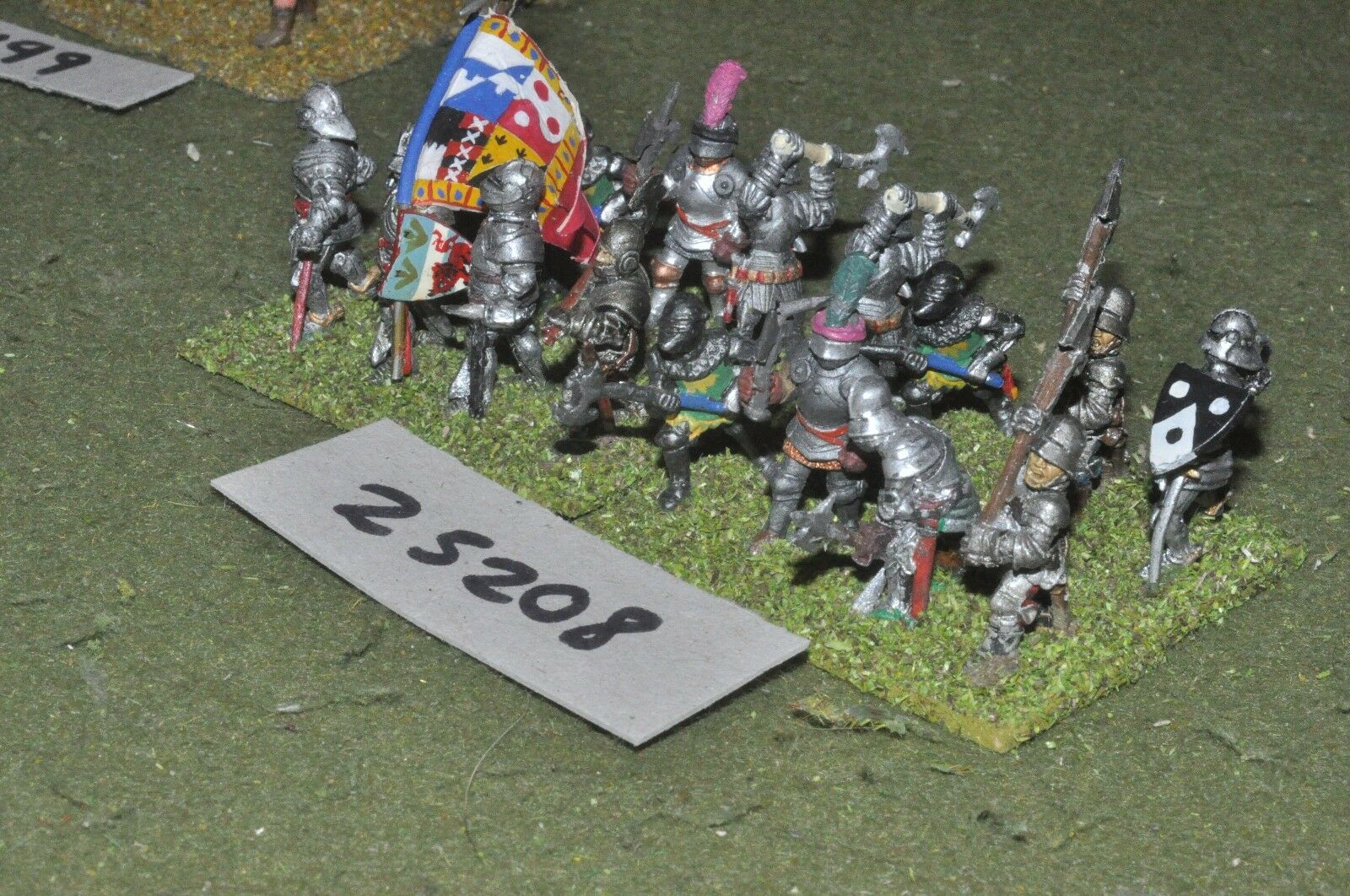 25mm medieval   english - men at arms 16 figures - inf (25208)