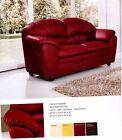 divano imbottito 2 posti in ecopelle pelle salotto di ottima qualità italy