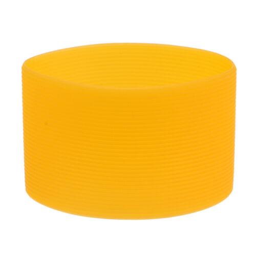 Silikonhülle Wasserflasche Silikon Ärmel für Trinkflasche Glasflasche Orange
