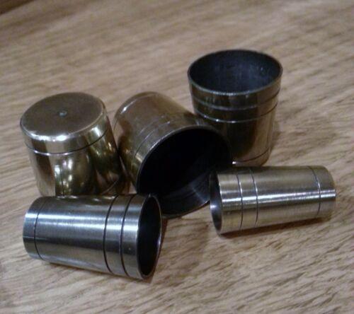 """Choix de 5 assortis laiton massif canne /""""Ultra/"""" bagues de serrage 4 mm solide base *"""