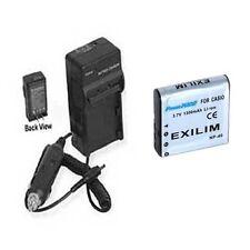 Battery + Charger for Casio EX-Z1200 EX-Z40 EX-Z50 EXZ650 EX-Z1050 EX-Z1080