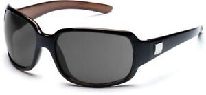 50d90927fdd Image is loading SUNCLOUD-Skyline-Polarized-Womens-Sunglasses -BLACK-FRAME-Purple-