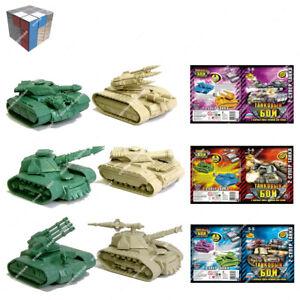 Tehnolog Tank Battle 3 séries différentes de 2 pieces 50 mm échelle non peint