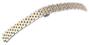 Edelstahl-Gliederband-Uhrenband-Silber-Gold-18-mm-Faltschliesse-X8100077180