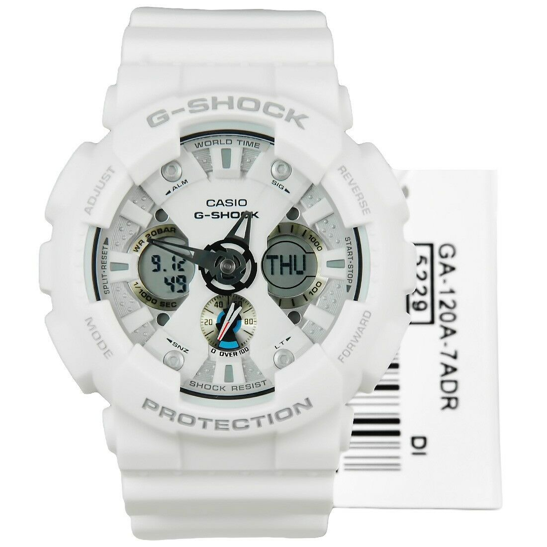 04db70af309 Casio G-Shock GA-120A-7A Original Analog Digital White Mens Watch GA-120  WR200M