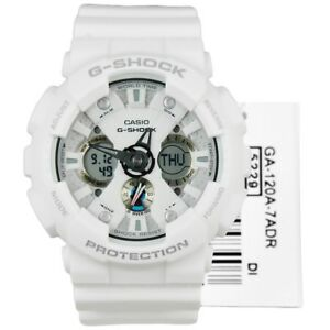 a3df09024b2d Casio G-Shock GA-120A-7A Original Analog Digital White Mens Watch GA ...