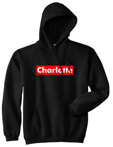 Charlotte North Carolina Red Box Pullover Hoody Hoodie