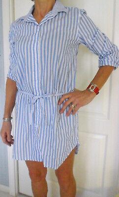 LA Damen Minikleid Strandkleid Bluse Tunika T-Shirt Longbluse Hemdblusenkleid