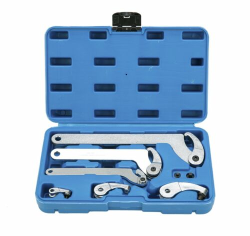 6pc Adjustable Hook And Pin Wrench Spanner C Spanner Hand Tool 35-120mm Set NEW