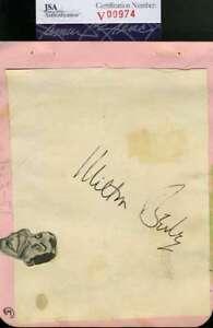 Milton-Bearle-Jsa-Coa-Hand-Signed-Vintage-1951-Album-Page-Autograph-Authentic