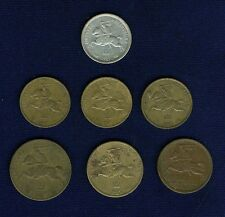 LITHUANIA 1925 COINS: 1 LITAS, 5 CENTAI, 10 CENTU, & 20 CENTU, GROUP LOT OF (7)