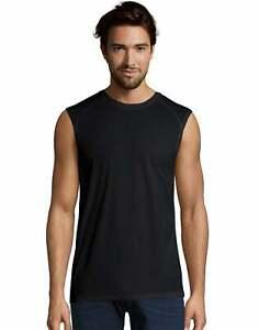 Hanes Mens Muscle Tee Shirt X-Temp  Sport Performance Cool DRI Mesh fabric Light