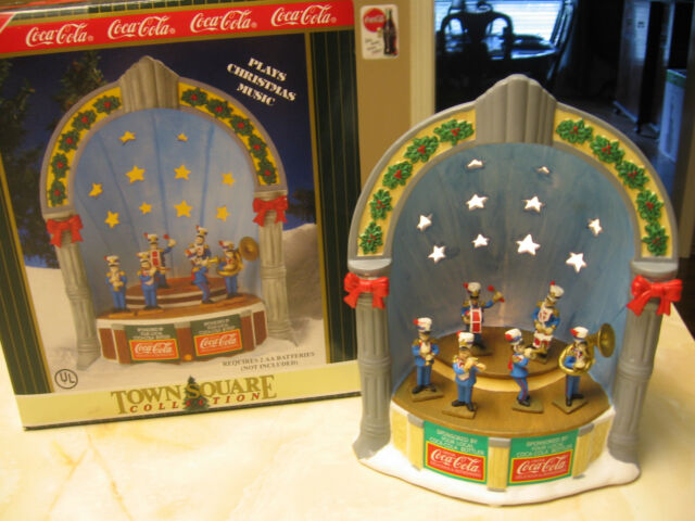 COCA COLA TOWN SQUARE MUSICAL TOWN BANDSTAND-1998 TARGET EXCLUSIVE RETIRED