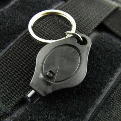 5x Bright Mini White Keychain LED Light Lamp Key Ring Flash Flashlight Torch