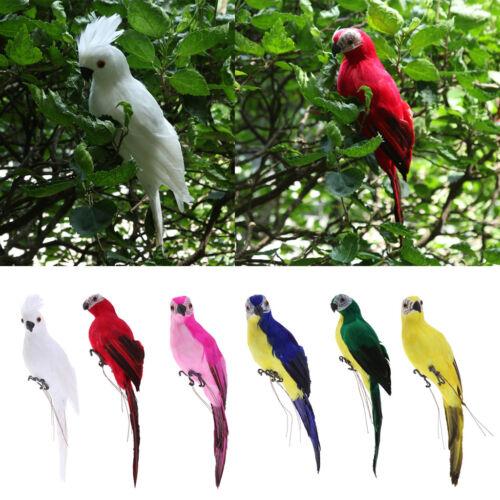 6x réaliste Ara de perroquet Arbres oiseau Plume artificielle modèle Home