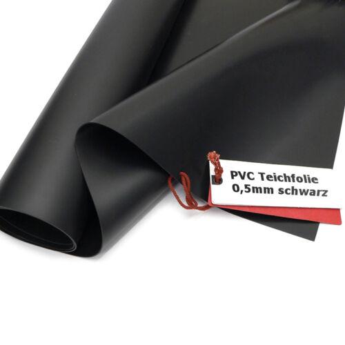 Sika premium pvc étang diapositive 0,5mm Noir 2 m de large longueur sélectionnable étang