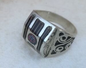 Rare-Ancient-Solid-Ring-Roman-REAL-Silver-Stunning-Artifact-Rare-Type-VINTAGE