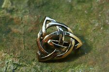 Brosche Fibel  Kelten TALIESIN Triquetra Bronze  Wikinger Keltische Knoten