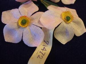 Vintage-Millinery-Flower-Pink-Organdy-Narcissus-Lot-Y44