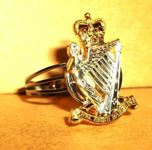 ROYAL IRISH RANGERS MEN/'S ADJUSTABLE RING FREE CALCULATOR