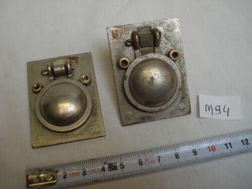 réf M94 vis cachées anneau bateau lot de 2 poignées onglet en laiton chromé