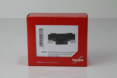 Herpa Heck revestimiento//calzándola para scania entre 10 unidades nº 053761//h9598