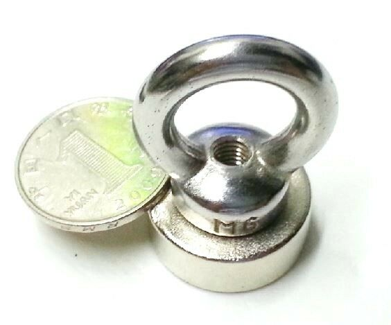 Eye Bolt Neodymium Hook Magnets - each holds ** 20 lbs **