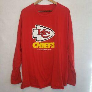 Kansas-City-Chiefs-Logo-Long-Sleeve-T-Shirt-Unisex-3XL-NFL-Mahomes-Arrowhead
