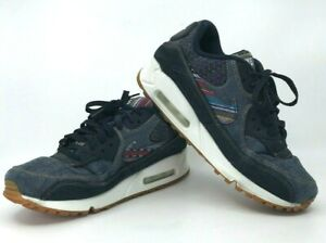 Details about Nike Air Max 90 Premium Afro Punk Mens 8.5 Denim Dark Obsidian 700155 402
