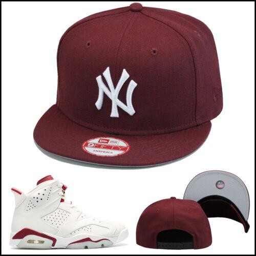 New Era New York Yankees Snapback Hat All MAROON//WHITE jordan 12 retro bordeaux