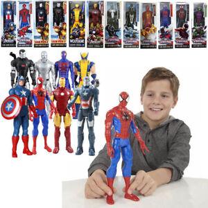 Marvel-Super-Hero-Series-Spider-man-Thor-Wolverine-Hulk-12-Inch-Children-039-s-Toy