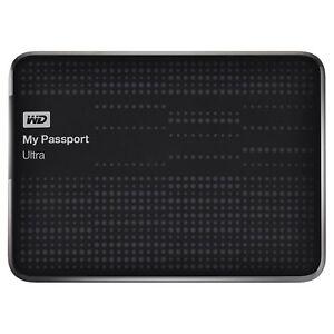 3x Noir Volcan 1 To Western Digital My Passport Ultra Disque Dur Portable Usb3-afficher Le Titre D'origine Sans Retour