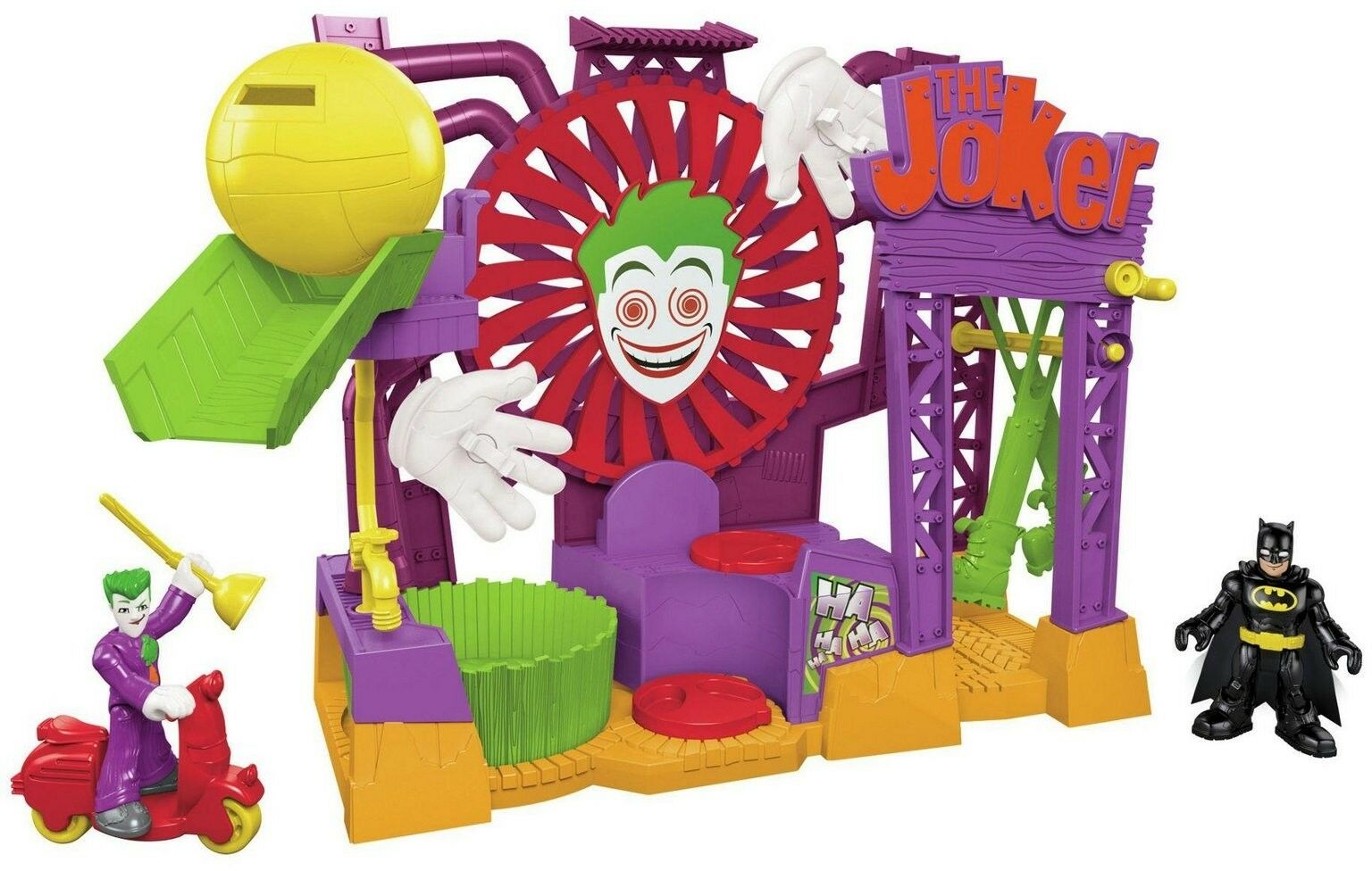 -Price Imaginext DC Super Friends Joker Laff Factory