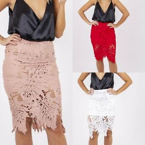 New-Gorgeous-Lace-Scallop-Patterned-Floral-Tight-Pencil-Stretch-Midi-Skirt-6-16