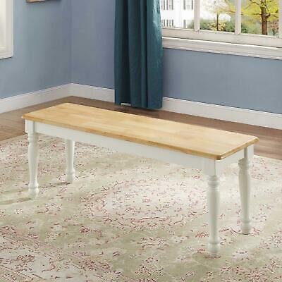 Dining Room Table Corner Bench Seat Solid Wood Home Furniture White New 764053472305 Ebay